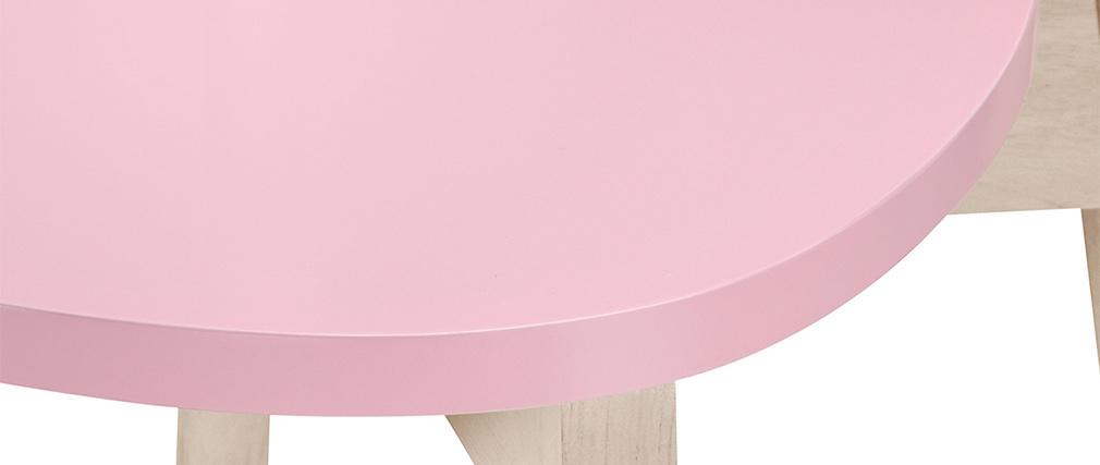 Taburetes de bar nórdicos rosa 65 cm (lote de 2) LEENA