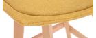Taburetes de bar nórdicos tejido efecto amarillo mostaza 65 cm (lote de 2) MATILDE