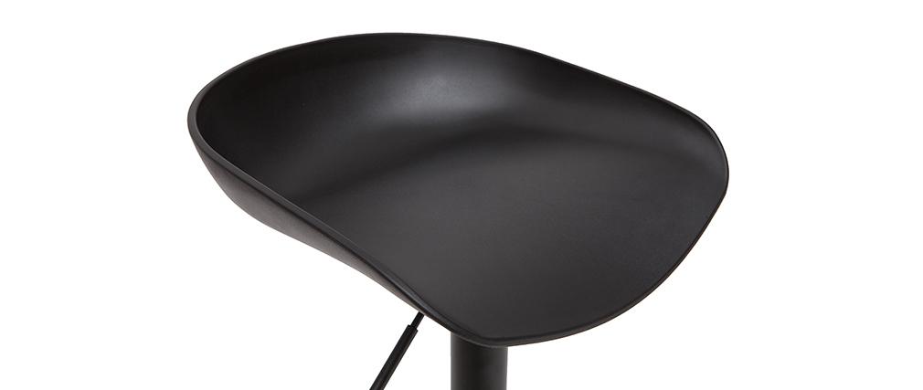 Taburetes de bar regulables modernos negros  A65 cm (lote de 2) PEBBLE