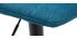 Taburetes de bar regulables tejido y metal azul petróleo (lote de 2) SAURY