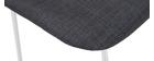 Taburetes de bar tejido gris 75 cm (lote de 2) PALIKAO