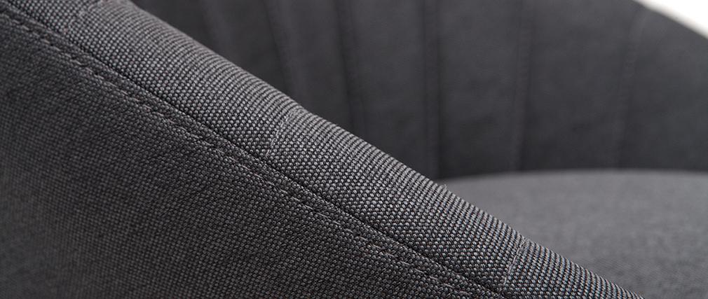 Taburetes de bar tejido gris oscuro 65 cm (lote de 2) SHERU