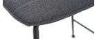 Taburetes de bar tejido y metal gris oscuro 65 cm (lote de 2) SAURY
