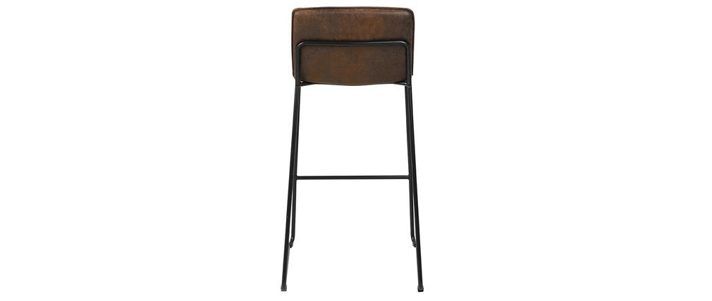 Taburetes de bar vintage marrón (lote de 2) CLINT