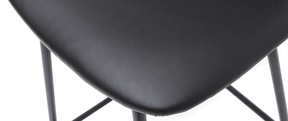 Taburetes de bar vintage negro con patas en metal 65cm (lote de 2) LAB