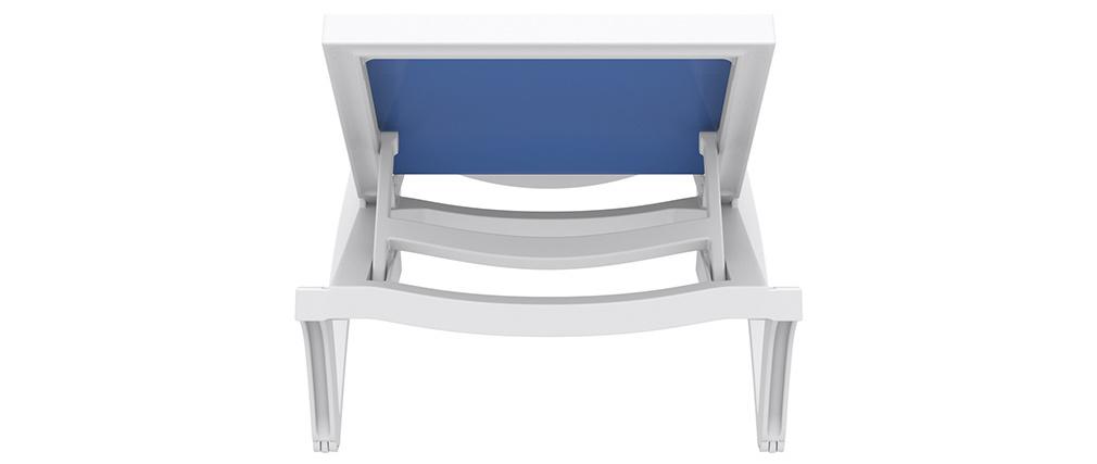 Tumbona ajustable azul con ruedas CORAIL