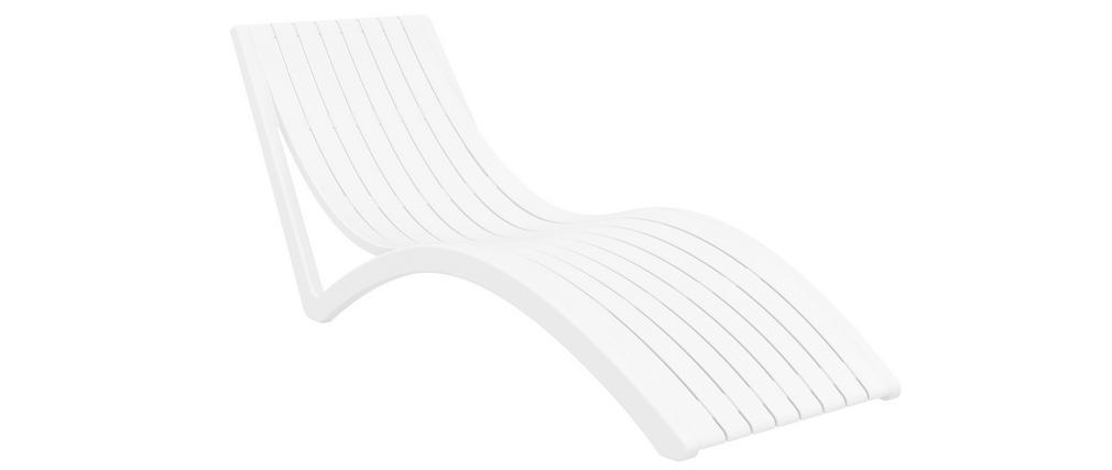 Tumbona moderna blanca SLIDO