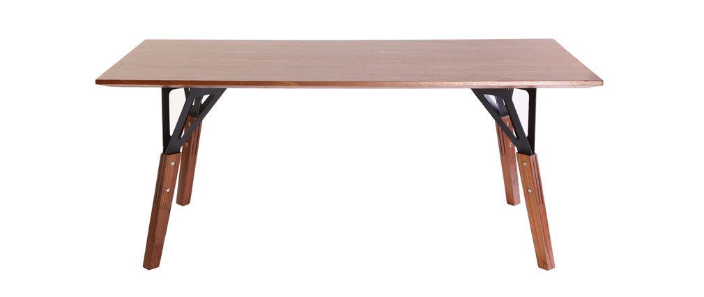 WADDEN Mesa de comedor diseño nogal 180x90cm WADDEN